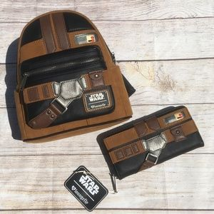 Loungefly Star Wars Han Solo Backpack Wallet Combo